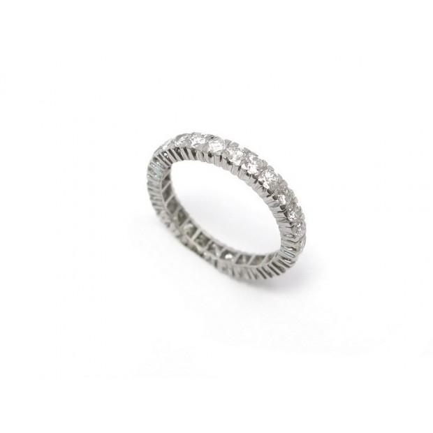 NEUF BAGUE T56 EN OR BLANC ET DIAMANTS 1.62 CT 4.3GR + ECRIN GOLD DIAMONDS RING