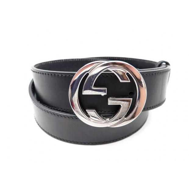 55a00760abf ceinture gucci 114984 t 95 logo double g mixte en cuir