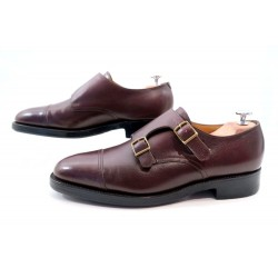 CHAUSSURES JOHN LOBB WILLIAM 2 DOUBLE BOUCLES 7.5E 41.5 LARGE VEAU GRAINE 1095€
