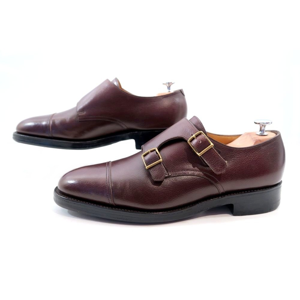 66ede19be540 CHAUSSURES JOHN LOBB WILLIAM 2 DOUBLE BOUCLES 7.5E 41.5 LARGE VEAU GRAINE  1095€. Loading zoom