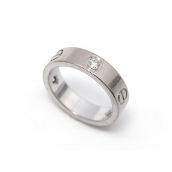 BAGUE CARTIER LOVE 3 DIAMANTS B4032500 T59 EN OR BLANC + ECRIN GOLD RING 3900€