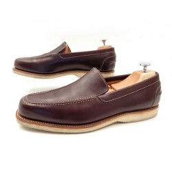 CHAUSSURES JOHN LOBB MIAMI 10.5E 44 44.5 MOCASSINS EN CUIR MARRON SHOES 1095€