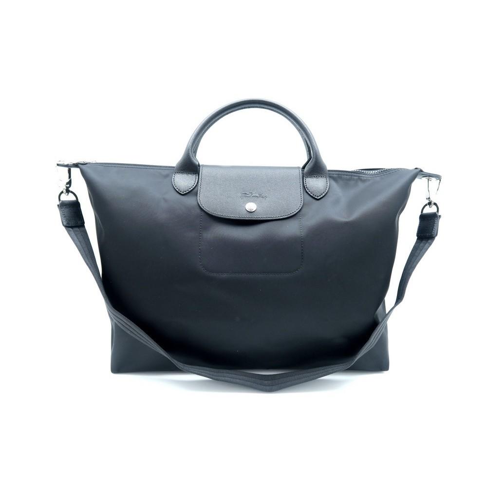 Sac A Main Longchamp Pliage Neo L 1630578 Small Black Authentic Neuf Loading Zoom
