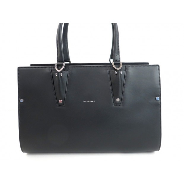 NEUF SAC A MAIN LONGCHAMP PARIS PREMIER EN CUIR NOIR 37 CM HAND BAG PURSE 1650€