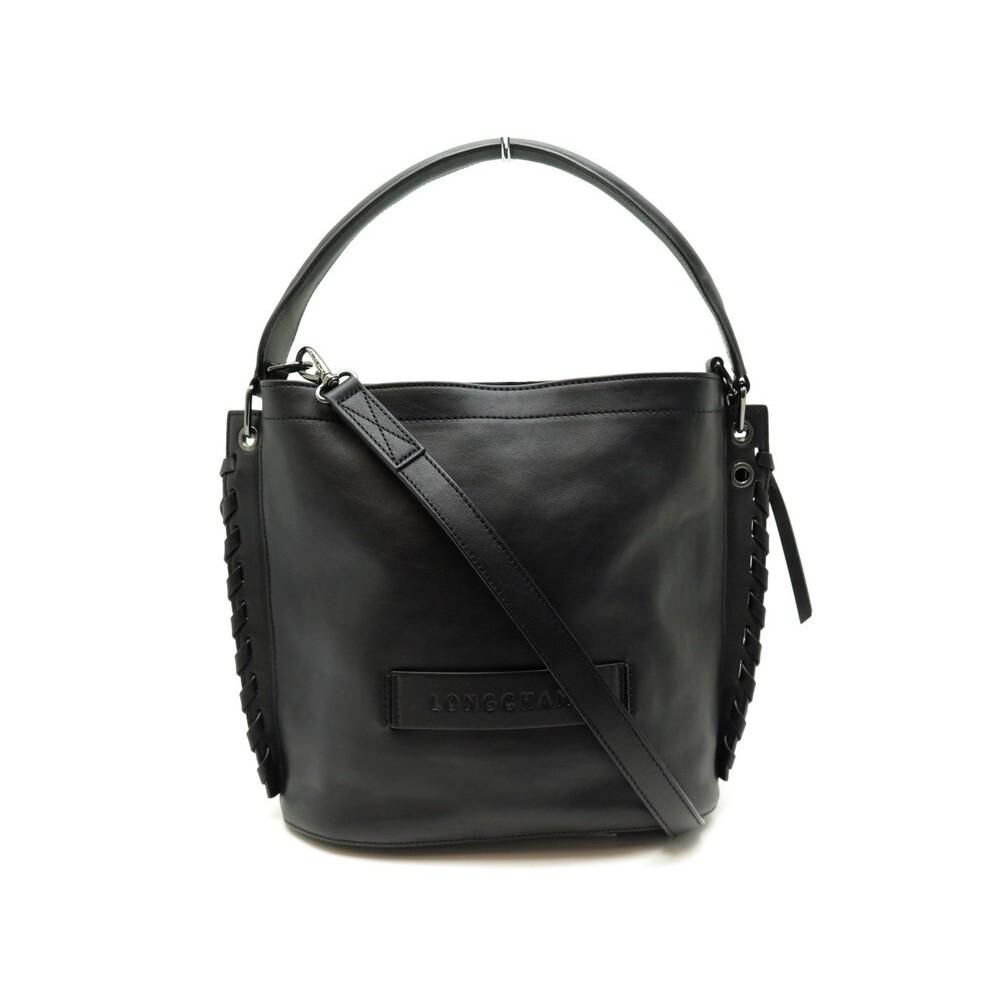 sac a main longchamp 3d l2084hsl001 en cuir noir