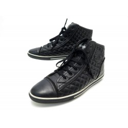 CHAUSSURES CHANEL BASKETS G28569 40 CUIR MATELASSE LOGO CC SNEAKERS SHOES 790€