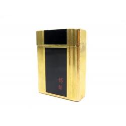 BRIQUET ST DUPONT PLAQUE OR LAQUE DE CHINE SYMBOLES CHINOIS GOLD LACQUER LIGHTER