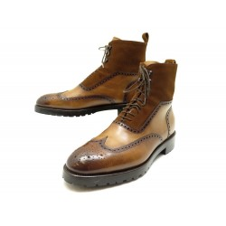 NEUF CHAUSSURES SUTOR MANTELLASSI BOTTINES PARKER 7.5 41.5 CUIR BOOTS SHOES 870€