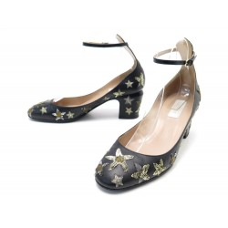 CHAUSSURES VALENTINO ESCARPINS BABIES ETOILE SEQUIN 38.5 STAR-STUDDED SHOES 590€