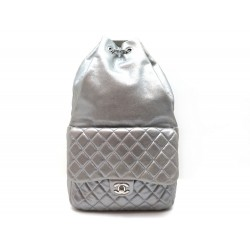 SAC A DOS CHANEL TIMELESS BACKPACK IN SEOUL TIMELESS CUIR MATELASSE ARGENT 4050€