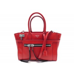 SAC A MAIN ZADIG & VOLTAIRE CANDIDE MEDIUM CUIR ROUGE BANDOULIERE HAND BAG 595€