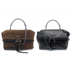 NEUF SAC A MAIN ZADIG VOLTAIRE TWIN'S ZIP BIMATIERE BANDOULIERE HAND BAG 550€