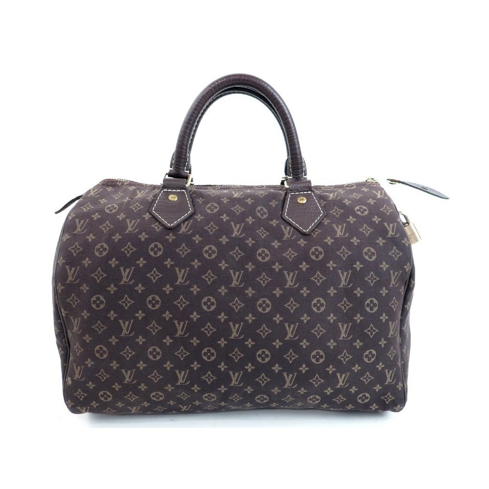 SAC A MAIN LOUIS VUITTON SPEEDY 30 MINI LIN EN TOILE MARRON HAND BAG PURSE  830. Loading zoom f99ea4732d4