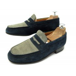 CHAUSSURES JM WESTON 182 5E 39 L 39.5 MOCASSINS DAIM BICOLORE SUEDE LOAFERS 650€