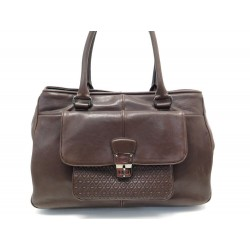 SAC A MAIN TOD'S CABAS 35 CM EN CUIR MARRON BROWN LEATHER HAND TOTE BAG 995€