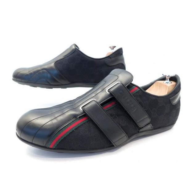 2ce4c3385482 chaussures gucci 170607 9.5c 44 baskets noir toile