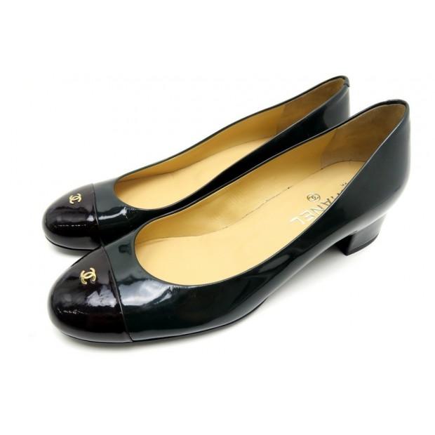 Chaussures Escarpins Chanel Logo Cc 39 En Cuir