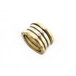 BAGUE BULGARI B.ZERO 1 4 RANGS 52 EN OR JAUNE BLANC 18K + BOITE GOLD RING 2590€