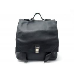SAC A DOS PROENZA SCHOULER COURIER EN CUIR NOIR BLACK LEATHER BACKPACK BAG 1619€