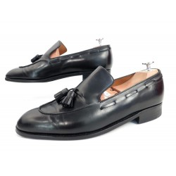 CHAUSSURES JOHN LOBB SUR MESURE MOCASSINS A PAMPILLES 41 CUIR LOAFER SHOES 5890€