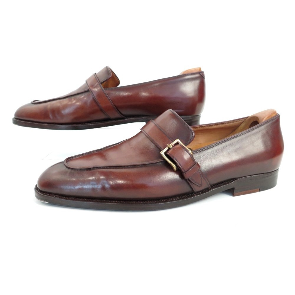 eb67eed075d467 CHAUSSURES JOHN LOBB SUR MESURE MOCASSINS A BOUCLES 41 CUIR LOAFER SHOES  5890€. Loading zoom