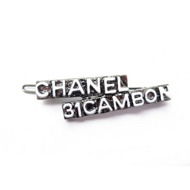 NEUF BARRETTE CHANEL 31 CAMBON EN METAL ARGENTE BIJOUX DE TETE NEW STRIP 420€