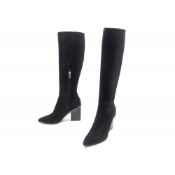 NEUF CHAUSSURES HERMES BOTTES PATIENCE 37.5 CHEVER VELOURS NOIR + BOITE 1800€