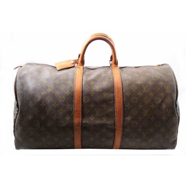VINTAGE SAC DE VOYAGE A MAIN LOUIS VUITTON KEEPAL 50 CM