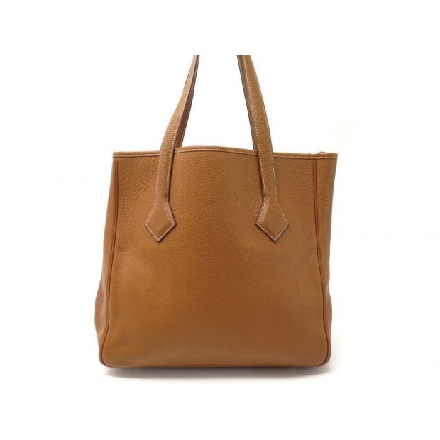 SAC A MAIN HERMES VICTORIA II 32 CABAS EN CUIR TOGO GOLD LEATHER TOTE HAND BAG