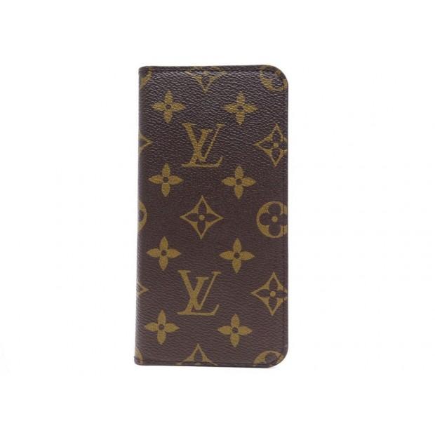 NEUF ETUI TELEPHONE LOUIS VUITTON IPHONE 7+ 8+ EN TOILE MONOGRAM PHONE CASE 305€