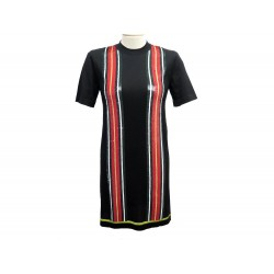 NEUF ROBE LOUIS VUITTON EMBROIDERED KNIT DRESS 1A2NDE S LAINE & SOIE NOIR 1400€