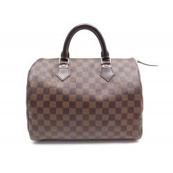 SAC A MAIN LOUIS VUITTON SPEEDY 30 TOILE DAMIER EBENE N41364 BOITE HAND BAG 910€