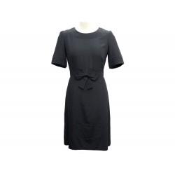 NEUF ROBE FENDI M 40 EN SOIE NOIRE CEINTURE NOEUD BLACK SILK NEW DRESS 1200€