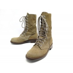 CHAUSSURES CHANEL BOTTINES G29132 37.5 CUIR POULAIN PONY HAIR BOOTS SHOES 1670€