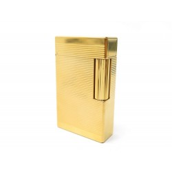 NEUF BRIQUET ST DUPONT LIGNE 2 PLAQUE OR DORE GOLD PLATED NEW LIGHTER 790€