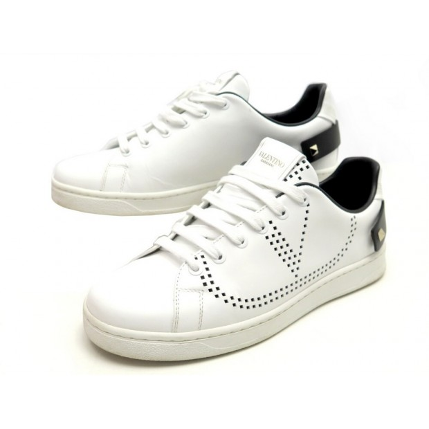 CHAUSSURES VALENTINO BACKNET SW2S0M20 37 38 FR BASKETS CUIR BLANC SNEAKERS 520€