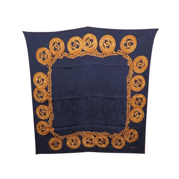 Nouveaux produits site réputé fréquent foulard chanel carre soie brochee jacquard chaine