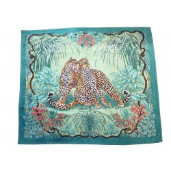 GRAND DRAP DE PLAGE HERMES SERVIETTE DE BAIN 140 x 170 LEOPARD JUNGLE LOVE 420€