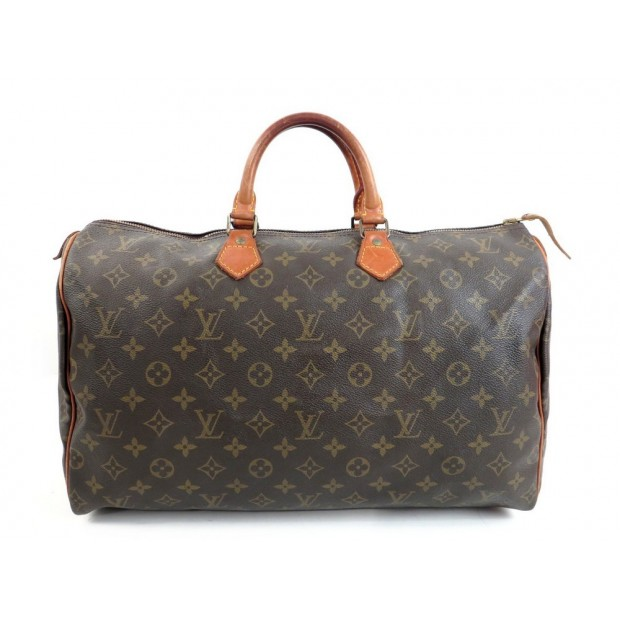 VINTAGE SAC A MAIN LOUIS VUITTON SPEEDY 40 EN TOILE MONOGRAM LV HAND BAG 790€