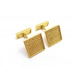 BOUTONS DE MANCHETTES CARTIER CARRE OR JAUNE 18K 13GR BOITE GOLD CUFFLINKS 3250€