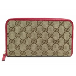 NEUF PORTEFEUILLE GUCCI TOILE MONOGRAM GUCCISSIMA 363423 NEW CANVAS WALLET 440€