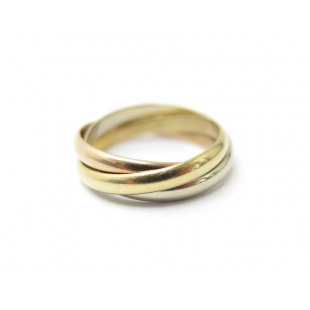 BAGUE CARTIER TRINITY PM 3 ORS TAILLE 51 OR JAUNE ROSE BLANC 18K GOLD RING 940€