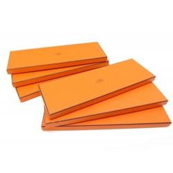 LOT 6 BOITES A CRAVATE HERMES ORANGE RECTANGULAIRE TIE BOX SET DECORATION DESIGN