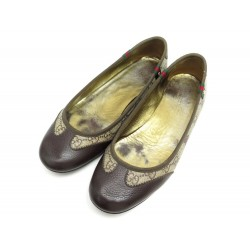 CHAUSSURES GUCCI BALLERINES 214528 TOILE GUCCISSIMA COEUR 38 IT 39 FR SHOES 590€
