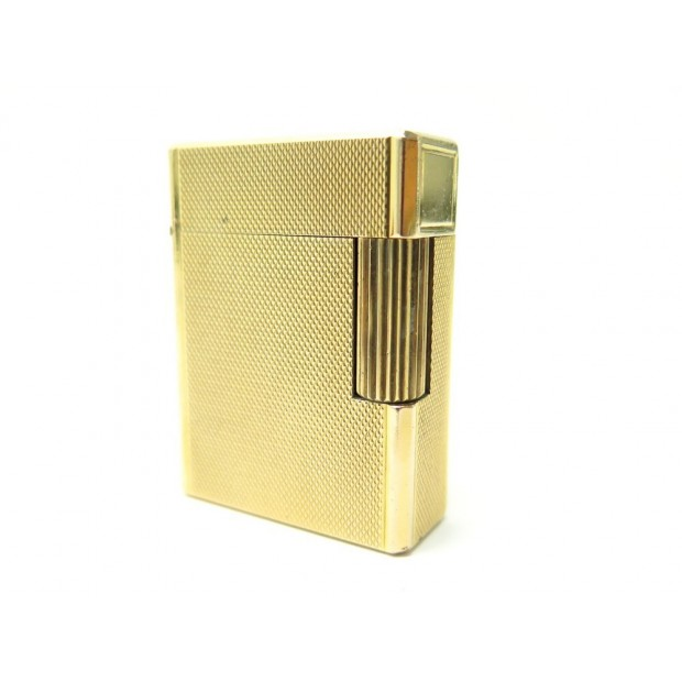 BRIQUET ST DUPONT GUILLOCHE EN PLAQUE OR DORE GOLD PLATED LIGHTER 750€