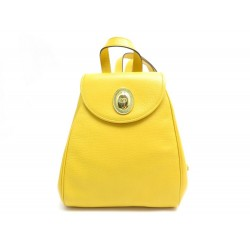 VINTAGE SAC A DOS CHRISTIAN DIOR EN CUIR JAUNE YELLOW LEATHER BACKPACK BAG
