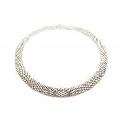 COLLIER TIFFANY & CO SOMERSET 44 CM ARGENT 925 84GR BOITE ECRIN SILVER NECKLACE