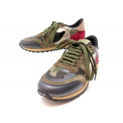 NEUF CHAUSSURES VALENTINO BASKETS KW2S0291 SNEAKERS CAMOUFLAGE 35.5 BOITE 610€