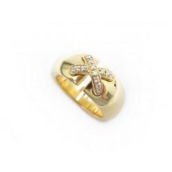 BAGUE CHAUMET LIENS CROISES 52 OR JAUNE DIAMANTS +BOITE GOLD DIAMONDS RING 5740€