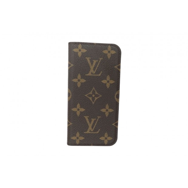 reputable site 83721 26642 etui louis vuitton iphone 7 folio monogram lv